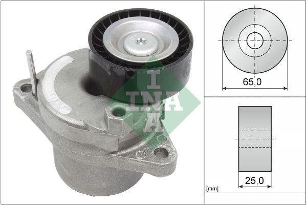 INA  534 0658 10 Tensioner Lever, v-ribbed belt Width: 25,00mm, Ø: 65,00mm