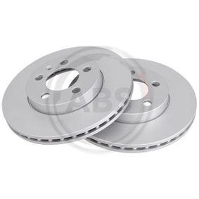 Bremsscheibe Bremsscheibendicke: 22,0mm, Felge: 5-loch, Ø: 256,0mm mit OEM-Nummer 2Q0 615 301G
