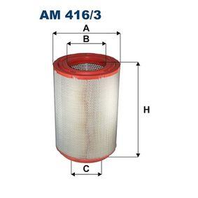 Luftfilter Höhe: 468mm mit OEM-Nummer 186 9988