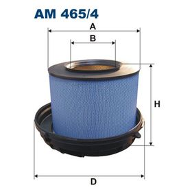 Luftfilter Höhe: 348mm mit OEM-Nummer 004 094 8504