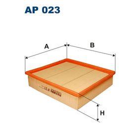 Luftfilter Länge: 224mm, Breite: 241mm, Höhe: 57mm mit OEM-Nummer 6 172 024