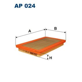 Filtre à air Longueur: 300mm, Largeur: 171mm, Hauteur: 35mm avec OEM numéro 60538903