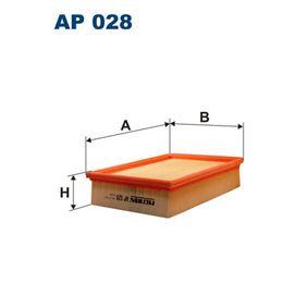 FILTRON  AP 028 Luftfilter Länge: 243mm, Breite: 178mm, Höhe: 57mm