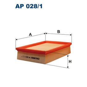 Luftfilter Länge: 239mm, Breite: 176mm, Höhe: 57mm, Länge: 239mm mit OEM-Nummer PHE10004