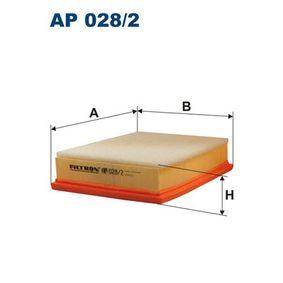 Luftfilter Länge: 243mm, Breite: 178mm, Höhe: 57mm mit OEM-Nummer 13 72 1 744 869