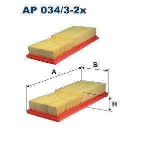Luftfilter Länge: 272mm, Breite: 118mm, Höhe: 50mm mit OEM-Nummer 05098424AA