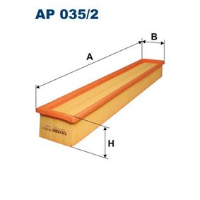 Luftfilter Länge: 520mm, Breite: 86mm, Höhe: 57mm mit OEM-Nummer 111 094 03 04