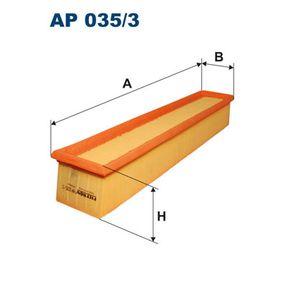 Luftfilter Länge: 455mm, Breite: 84mm, Höhe: 69mm, Länge: 455mm mit OEM-Nummer 111 094 0204