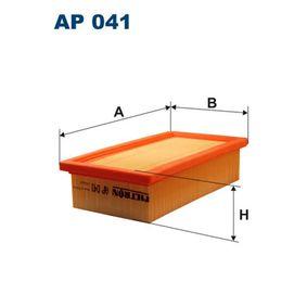 FILTRON  AP 041 Luftfilter Länge: 242mm, Breite: 131mm, Höhe: 58mm