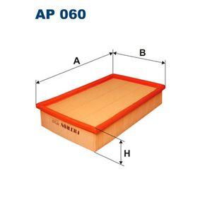 Luftfilter Länge: 276mm, Breite: 185mm, Höhe: 57mm mit OEM-Nummer 1L0129620