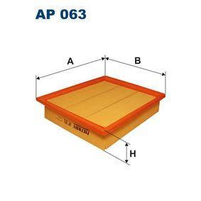 FILTRON  AP 063 Luftfilter Länge: 268mm, Breite: 228mm, Höhe: 57mm