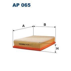 Luftfilter Länge: 286mm, Breite: 213mm, Höhe: 56mm, Länge: 286mm mit OEM-Nummer 9161033