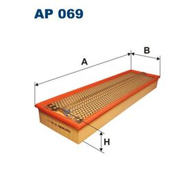 Luftfilter Länge: 597mm, Breite: 170mm, Höhe: 69mm, Länge: 597mm mit OEM-Nummer 004 094 67 04