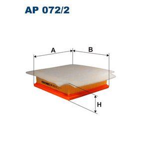 Luftfilter Länge: 213mm, Breite: 203mm, Höhe: 57mm mit OEM-Nummer 5835127