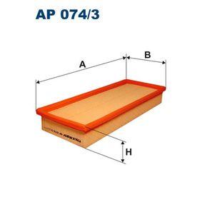 Luftfilter Länge: 338mm, Breite: 143mm, Höhe: 48mm mit OEM-Nummer 1216 907