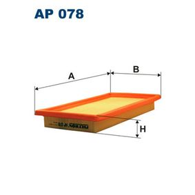 Luftfilter Länge: 298mm, Breite: 159mm, Höhe: 36mm mit OEM-Nummer 7633139