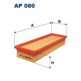 Luftfilter Länge: 297mm, Breite: 101mm, Höhe: 49mm, Länge: 297mm mit OEM-Nummer 7 701 042 841