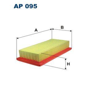 Luftfilter Länge: 262mm, Breite: 126mm, Höhe: 48mm, Länge: 262mm mit OEM-Nummer 71 736 137