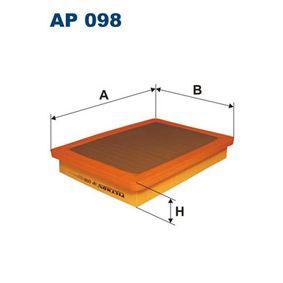 Luftfilter Länge: 248mm, Breite: 180mm, Höhe: 39mm mit OEM-Nummer 7 722 936