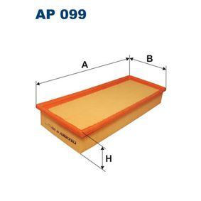 Luftfilter Länge: 368mm, Breite: 150mm, Höhe: 57mm, Länge: 368mm mit OEM-Nummer PC604