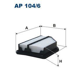 Air Filter AP 104/6 CIVIC 8 Hatchback (FN, FK) 1.4 (FK1) MY 2018