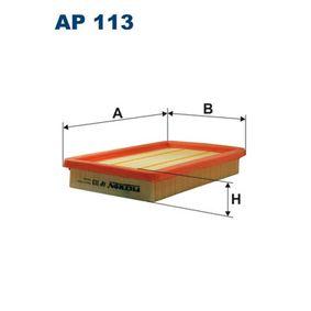 Luftfilter Länge: 258mm, Breite: 164mm, Höhe: 40mm, Länge: 258mm mit OEM-Nummer FS05 -13Z40