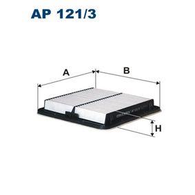 Luftfilter Länge: 220mm, Breite: 216mm, Höhe: 33mm mit OEM-Nummer 16546-AA120