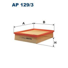Luftfilter Länge: 246mm, Breite: 206mm, Höhe: 57mm mit OEM-Nummer LR 027408