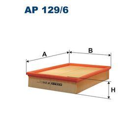Luftfilter Länge: 303mm, Breite: 224mm, Höhe: 55mm mit OEM-Nummer PHE000112