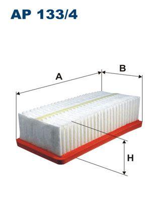 FILTRON  AP 133/4 Luftfilter Länge: 230mm, Breite: 120mm, Höhe: 65mm, Länge: 230mm