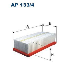 Luftfilter Länge: 230mm, Breite: 120mm, Höhe: 65mm, Länge: 230mm mit OEM-Nummer 7701068104