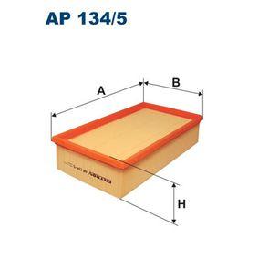 Luftfilter Länge: 280mm, Breite: 159mm, Höhe: 62mm, Länge: 280mm mit OEM-Nummer 7 701 047 478