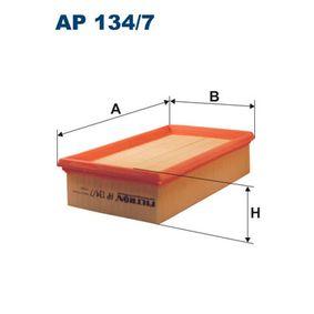 Luftfilter Länge: 239mm, Breite: 140,5mm, Höhe: 57mm, Länge: 239mm mit OEM-Nummer 22324 00QAB