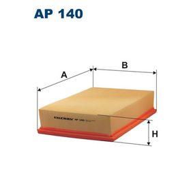 Luftfilter Länge: 276mm, Breite: 185mm, Höhe: 57mm mit OEM-Nummer 1L0129601C