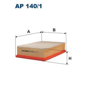 Luftfilter Länge: 276mm, Breite: 185mm, Höhe: 65mm mit OEM-Nummer 1L0 129 620
