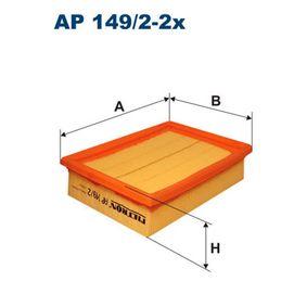 Luftfilter Länge: 185mm, Breite: 140mm, Höhe: 49mm mit OEM-Nummer 030198620