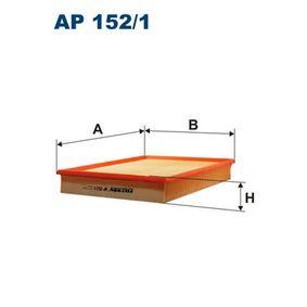 Luftfilter Länge: 326mm, Breite: 252mm, Höhe: 50mm, Länge: 326mm mit OEM-Nummer 5 834 071