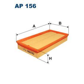 Luftfilter Länge: 286mm, Breite: 157mm, Höhe: 46mm mit OEM-Nummer 1050 705