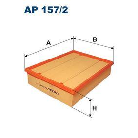 Luftfilter Länge: 279mm, Breite: 219mm, Höhe: 62mm mit OEM-Nummer 074 129 620
