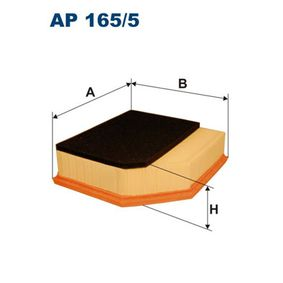 Luftfilter Länge: 226mm, Breite: 212mm, Höhe: 73mm, Länge: 226mm mit OEM-Nummer 30 636 833