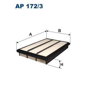 Filtro de aire Long.: 360mm, Ancho: 237mm, Altura: 47mm con OEM número MR404847