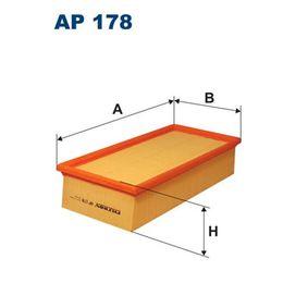 Luftfilter Länge: 312mm, Breite: 150mm, Höhe: 70mm mit OEM-Nummer 178010B020