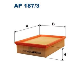 Luftfilter Länge: 235mm, Breite: 176mm, Höhe: 57mm, Länge: 235mm mit OEM-Nummer PHE 10004