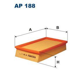 Luftfilter Länge: 282mm, Breite: 160mm, Höhe: 57mm, Länge: 282mm mit OEM-Nummer 4236030