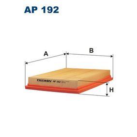 Luftfilter Länge: 216mm, Breite: 166mm, Höhe: 32mm, Länge: 216mm med OEM Nummer 2S61-9601-CA