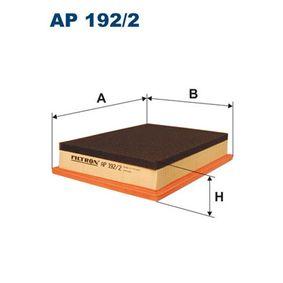 Luftfilter Länge: 216mm, Breite: 166mm, Höhe: 42mm, Länge: 216mm med OEM Nummer 13727520855