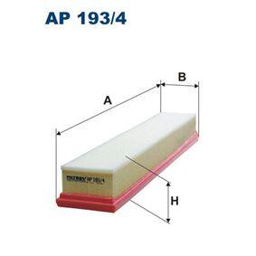 Luftfilter Länge: 454mm, Breite: 89mm, Höhe: 57mm, Länge: 454mm mit OEM-Nummer 4X43-9601-BA