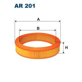 Luftfilter Höhe: 60mm mit OEM-Nummer 030 129 620A