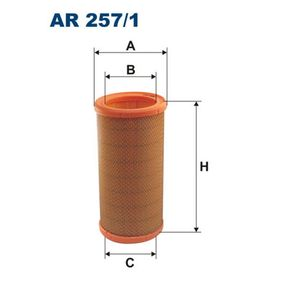 Luftfilter Höhe: 269mm mit OEM-Nummer 7700 857 336