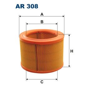 Luftfilter Höhe: 124mm mit OEM-Nummer 1444-G0